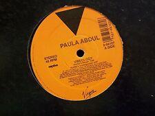"Paula Abdul-Vibeology-12"" Single-Virgin-45 RPM-Vinyl Record-VG+"
