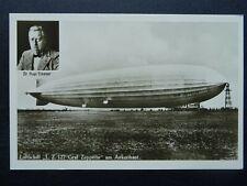 More details for dr. hugo eckener graf zeppelin luftschiff l.z.127 am ankermast 1928 rp postcard