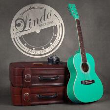 Lindo 3/4 Traveller travel Seafoam Green Acoustic Guitar + Gigbag,Tuner, Strings