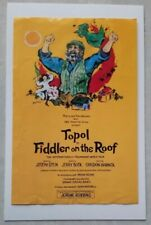 "1990 Topol FIDDLER ON THE ROOF 6"" x 9"" World Tour Flyer/Mini-Poster"