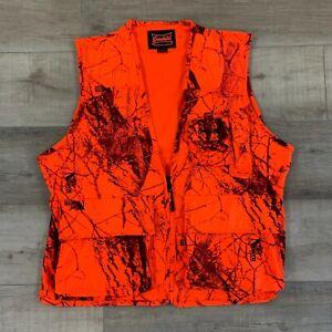 Gamehide Hunting Vest Outdoor Orange Camo Men's Size Medium