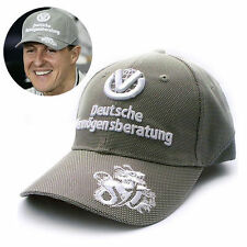 NEW Silver F1 FORMULA ONE 1 MICHAEL SCHUMACHER WORLD CHAMPION BASEBALL HAT CAP