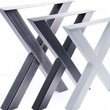 Tischgestell Tischbein X-Gestell Esstisch Schreibtisch Tisch Möbel Loft Stahl