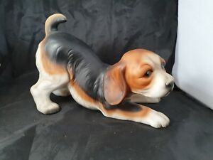 The Leonardo Collection Fine Porcelain Crouching Beagle Puppy Dog Collectible