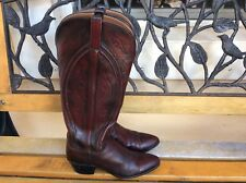 Womens Lucchese ? Tall Shaft Cowboy Boots Size 6.5 A Narrow