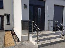 Edelstahl Treppengeländer V2A Geländer Handlauf Treppe 2 lfm mit winkel !
