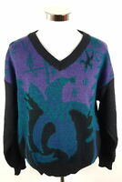 Vintage Puma Strickpullover Herren M (DE 6) Mehrfarbig Wolle Retro Made in Italy