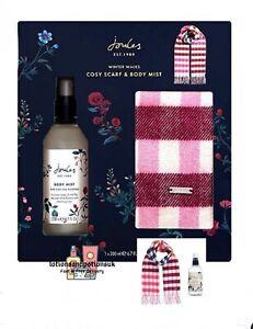 Joules WINTER WALKS Cosy Scarf & Body Mist - Ladies Christmas Gift Set 2021