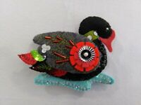 12 Days of Christmas Hand made Black Swan Beaded 7th day of Christmas ornament