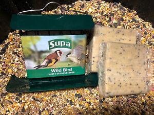 SUPA SUET CAKE FEEDER WITH TRAY HOLDERAND 2 CAKE BUNDLE Wild Bird Energy