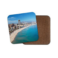 Beautiful Benidorm Coaster - Spain Summer Holiday Travel Beach Cool Gift #12488