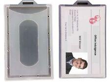 1 x Clear ID Business Card Holder Hard Plastic Portrait 94x59mm OSMER HPCP02