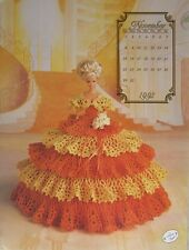 Annie Attic Fashion Bed Doll Crochet Pattern November 1992 Cotillion Collection