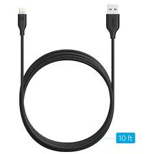 Anker PowerLine Lightning(10ft) Apple MFi Certified Lightning Cable/Charger Cord