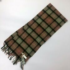 """New Men Unisex Brown Green Pink Scottish Tartan WOOL Neck Scarf Stole 64"""" x 12"""""""