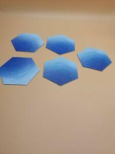 Ersatzteile Siedler von Catan 5 x  Hexfeld Wasser