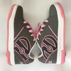 Heelys Propel 2.0 Skate Shoes Youth Size 4 or Women's size 5 Grey/PinkNICE!