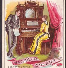 Antique Waterloo Organ 1800's Millersburg PA Music Store Advertising Trade Card