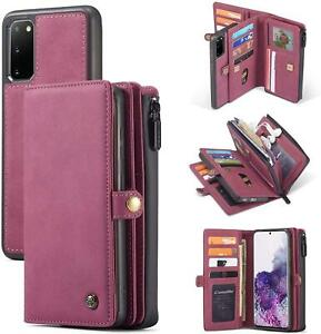 Wallet Case for Galaxy S20 S20+ S20 Ultra 2in1 Magnetic Detachable Leather Folio