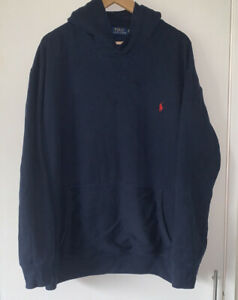 Mens BIG TALL XL XXL XLT RALPH LAUREN Fashion Top Hoody Jumper Fleece Blue 56""