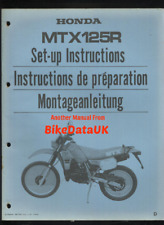 Honda MTX125R-D (1983 >) Factory PDI Set-Up Manual MTX 125 R Pro-Link Trail BY44