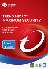 Trend Micro Maximum Security Latest 2020 1 PC Device 3 Year License Key Code