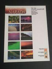 Narada New Age Piano Sampler Sheet Music Song Book 1990 Jones Lanz Brewer Gratz