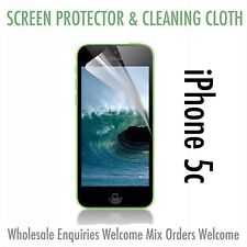 Iphone 5c Screen Protector & Cloth Wholesale Job Lot x 50 UK SELLER