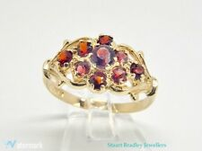 Vintage Garnet Cluster Ring | Size P (UK) 7 3/4 (US)