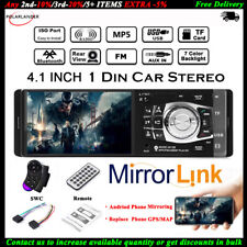 4.1'' Single 1 Din Car MP5 Player Bluetooth FM TF Stereo Radio Wheel Control MP3