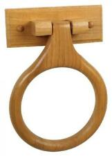 Dalton Towel Ring, Honey Oak Finish - Wooden Bathroom Hardware Tools, New