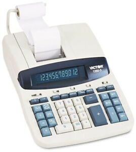 Victor 1260-3 Commercial Desktop Professional 10-Key Printer Calculator