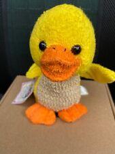 "Happy Scrubbies Ducky 8"" Terry Cloth Plush Washcloth Tender Loving Things"