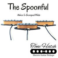 ToneHatch Handwound Pickups Spoonful Stratocaster Set-Scooped Mids Alnico5 Strat