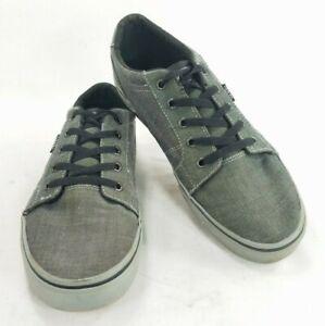 Vans Mens Canvas Sneakers Shoes Gray Sz 9 Lace Up Canvas