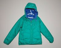 THE NORTH FACE PERRITO REVERSIBLE JACKET BLUE GREEN GIRLS SIZE S 7-8 NWOT
