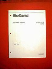 BOLENS TRACTOR POWER PACKER PLUS BAGGER MODEL 30912 PARTS MANUAL FORM # P-4247-1