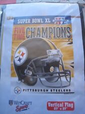 "PITTSBURGH STEELERS Vertical Flag/ Banner NFL Super Bowl XL Wincraft 27x37"" NEW"