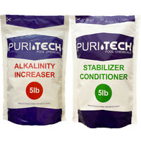 Puri Tech Chemicals 5 lb Alkalinity Increaser & 5 lb Stabilizer Conditioner Kit