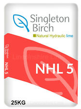 Natural Hydraulic Lime For Mortar NHL 5 STRONG SINGLETON BIRCH 24 Hour Delivery