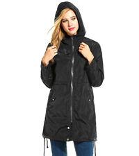 Women Waterproof Hooded ZIPPER Rain Coat Lightweight Packable Windproof Jacket Asian M Dark Blue
