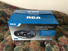 RCA RCD175 CD/Radio Boombox Disc Cassette Player Audio 3.5mm AUX MP3 iPhone