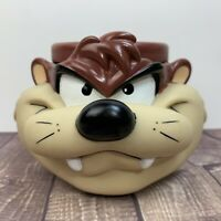 VTG TAZMANIAN DEVIL- 1992 TAZ - HARD PLASTIC 3D COFFEE MUG LOONEY TUNES CUP!!!!!