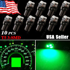 10X Green T5 3SMD LED bulb Dashboard Dash Instrument Light 74 2721 17 18 37 70