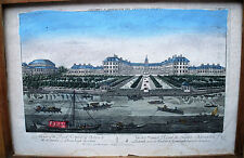 GRAVURE ORIGINALE-VUE D OPTIQUE-HOSPITAL ROYAL DE CHELSA-LONDRES-5/5-XVIII e