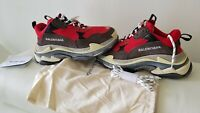 Authentic Mens Balenciaga Triple S Red Sneakers Shoes men sz 40 or us 7