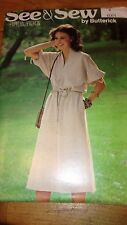 Butterick See & Sew 6001 Misses Dress Pattern Size 8 #448
