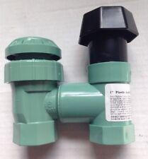 "(2) ORBIT 51023 MANUAL ANTI-SIPHON PLASTIC SPRINKLER 1"" WATER VALVE VALVES"