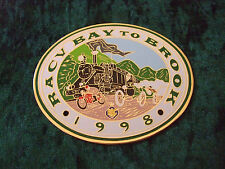 GRILLE / CAR BADGE - RACV - BAY TO BROOK - 1998 - PUFFING BILLY - MOTOR BIKE