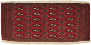 Small Entryway Kitchen Bathroom Rug 1'8X3'5 Tribal Vintage Oriental Wool Carpet